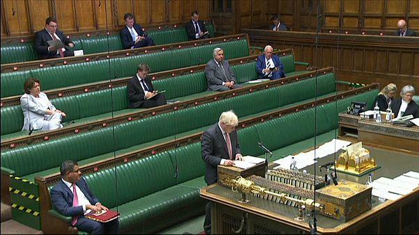 Boris Johnson au parlement britannique, le 14 septembre 2020.