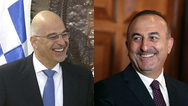 Yunanistan Dışişleri Bakanı Nikos Dendias // Türkiye Dışişleri Bakanı Mevlüt Çavuşoğlu