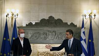 نخست وزیر یونان همراه با رئیس شورای اتحادیه اروپا