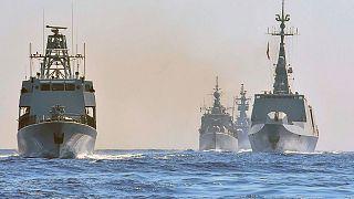 مانور دریایی مشترک یونان، قبرس، ایتالیا و فرانسه در شرق مدیترانه