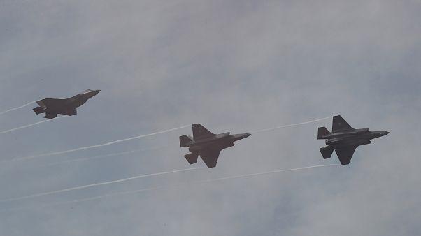 طائرات مقاتلة من طراز إف-35 تابعة للجيش الكوري الجنوبي