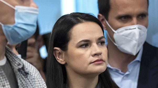 "Sviatlana Tsikhanouskaya has urged the European Union to be ""more brave"""