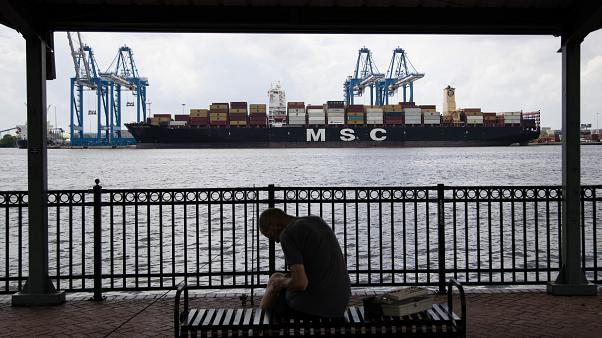 Корабль с китайскими товарами в США, 2019 г.