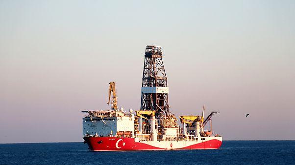 Doğu Akdeniz'de faaliyet gösteren Yavuz sondaj gemisi