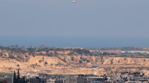 بالون يحمل مواد حارقة أطلق من قطاع غزة باتجاه مناطق إسرائيلية. 2020/08/24
