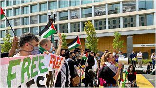 احتجاجات قرب البيت الأبيض