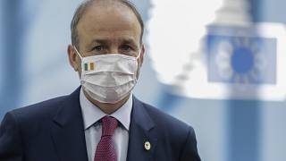 Ireland's Prime Minister Micheal Martin in Brussels, July 20, 2020.