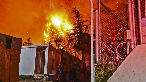 Φωτιά στο ΚΥΤ της Σάμου - φωτο αρχείου Οκτώβριος 2019