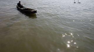 Fischer auf der Donau in Belgrad