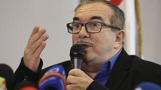 Rodrigo Londono, ex-commandant en chef des FARC, à Bogota - capitale de la Colombie - le 29 août 2019