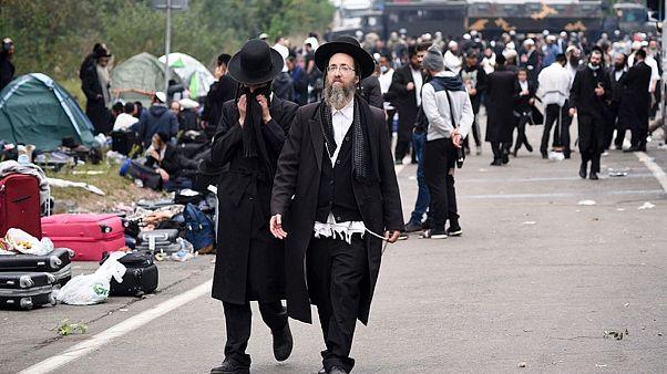 یهودیان حسیدی سرگردان در مرز اوکراین