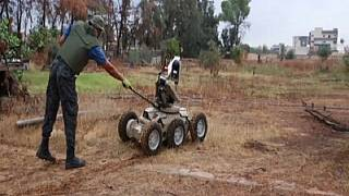 Libya Uses a Bomb Disposal Robot to Clear Minefields