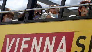 Ein Touristenbus in Wien