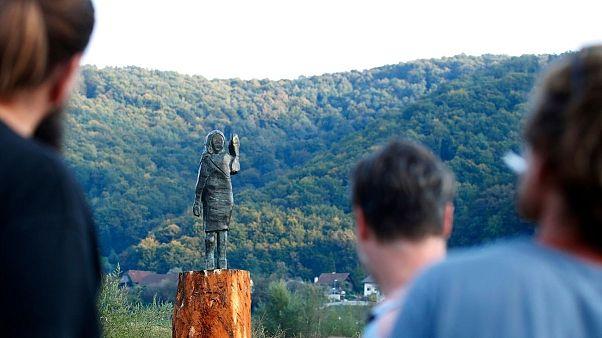 مجسمه ملانیا ترامپ در اسلوونی