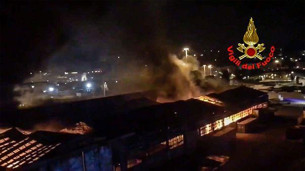 Tűz Anconában