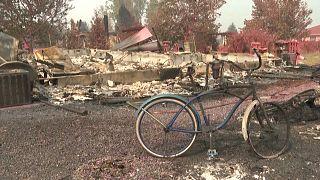 شاهد: صور جوية تظهر حجم الدمار الناجم عن الحرائق التي اندلعت في ولاية أوريغون