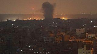 تصویر آرشیوی از حمله هوایی اسرائیل به غزه