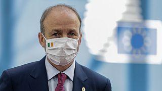 رئيس الوزراء الإيرلندي ميشيل مارتن خلال قمة للاتحاد الأوروبي في بروكسل 20 يوليو 2020