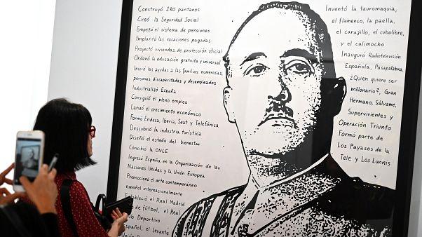لوحة للديكتاتور الإسباني فرانسيسكو فرانكو