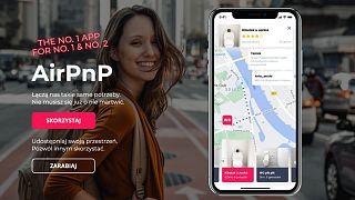 Werbeanzeige für Airpnp von Miasto Jest Nasze