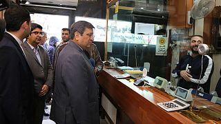 بازدید عبدالناصر همتی، رئیس کل بانک مرکزی ایران از صرافی های میدان فردوسی، آبان ۱۳۹۸