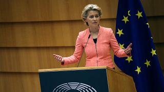 Ursula von der Leyen bizottsági elnök az Európai Parlamentben
