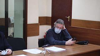 Михаил Ефремов перед заседанием Пресненского суда Москвы