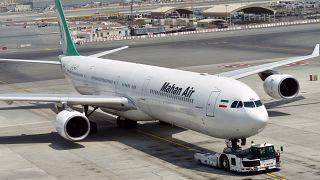 هواپیمای متعلق به شرکت ماهان
