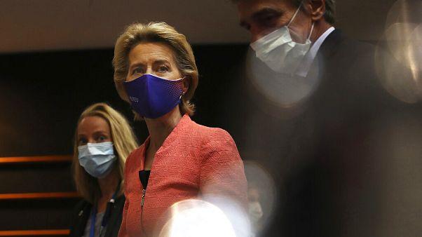 Ursula von der Leyen im EU-Parlament Brüssel