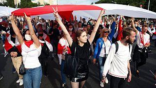 تظاهرات مخالفان رئیسجمهوری بلاروس