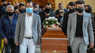 Funeral de Javier Ordóñez en Bogotá