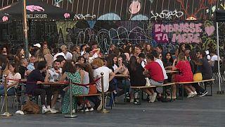 Terrasse de bars à Rennes, septembre 2020