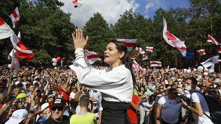 L'opposante bélarusse Svetlana Tikhanovskaïa - Minsk, le 02/08/2020