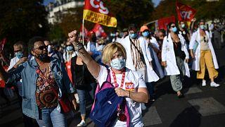 Rentrée syndicale à Paris le 17 septembre 2020