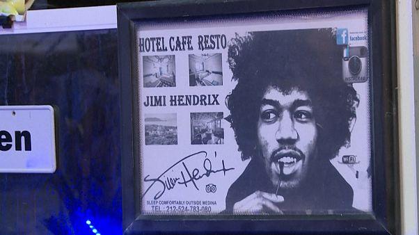 Fas'ın Diabat köyünde efsanevi gitarist Jimi Hendrix hazırlığı