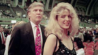 دونالد ترامپ و همسر سابقش، مارلا میپلز