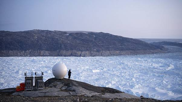 Hellheim gleccser, Grönland, 2019. augusztus