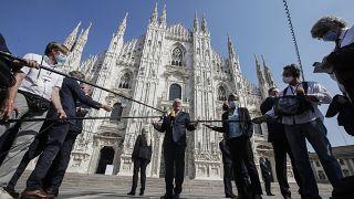 Le président allemand reçu à Milan par son homologue italien le 17 septembre 2020.