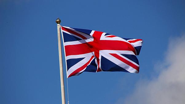 The national flag of the United Kingdom - the Union Jack or Union Flag - flies on a mast.