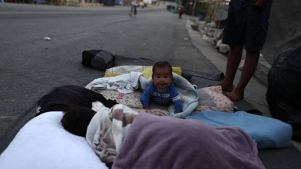 Obachloses Baby auf Lesbos