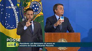 Bolsonaro defendiendo el uso de la hidroxicloroquina