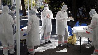 Koronavírus-tesztelés Franciaországban