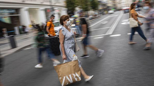 Straßenszene in Madrid