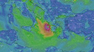Ο χάρτης εξέλιξης του κυκλώνα «Ιανός»