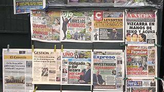 Portadas de periodicos recogen el proceso contra Martín Vizcarra