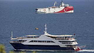 السفينة التركية أوروتش رئيس  قبالة سواحل أنطاليا في البحر الأبيض المتوسط /الأحد 13 سبتمبر