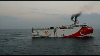 L'Oruc Reis, navire de recherche turc.