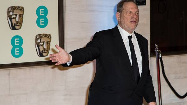 Harvey Weinstein poses for photographers upon arrival at the BAFTA 2016 Party in London, Sunday, Feb. 14, 2016.