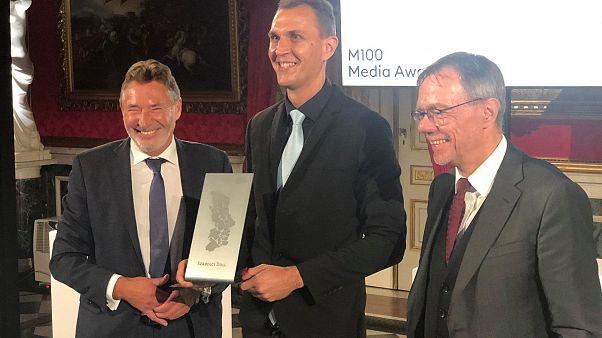 Dull Szabolcs a díjátadón csütörtök este a németországi Potsdamban