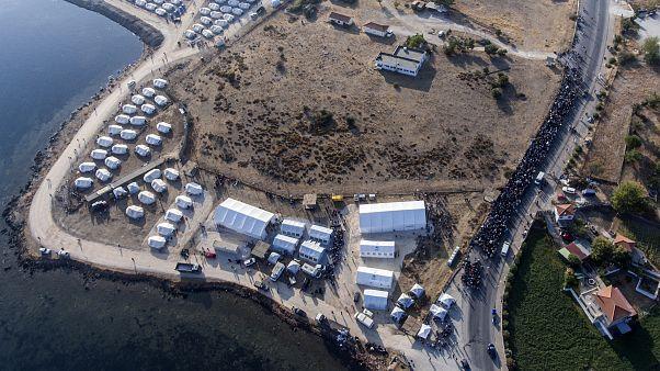 7.000 migrantes já estão instalados no novo acampamento de Lesbos
